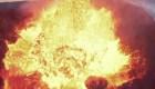 Así se estrella un dron contra un volcán en erupción
