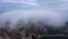 Niebla misteriosa cubre una isla china