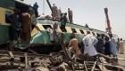 Impactante choque de trenes en Pakistán