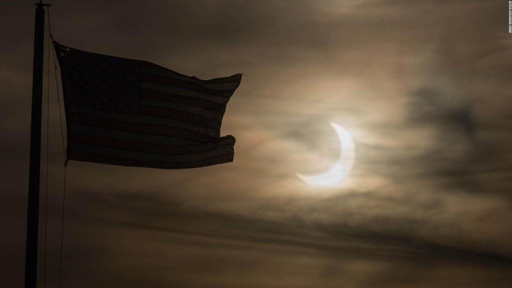 Así se vio el eclipse solar