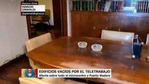 Edificios fantasma en Buenos Aires por el teletrabajo