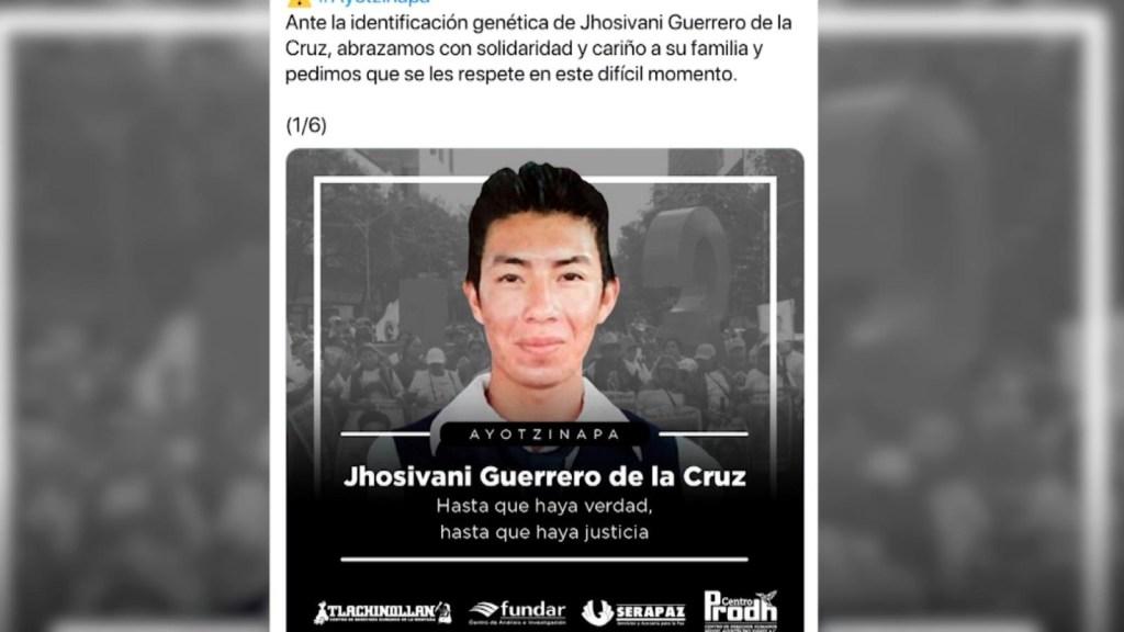 Identifican resto de un normalista de Ayotzinapa