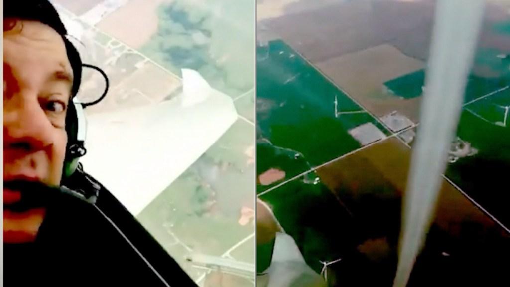 Piloto graba video impresionante de tromba de tierra