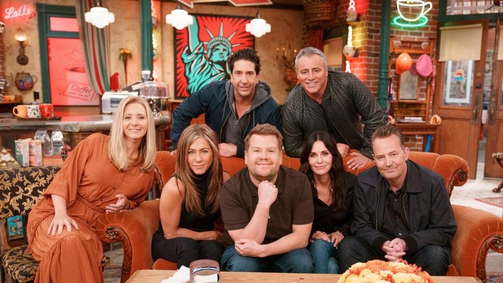 """El elenco de """"Friends"""" cantó el tema musical del programa"""