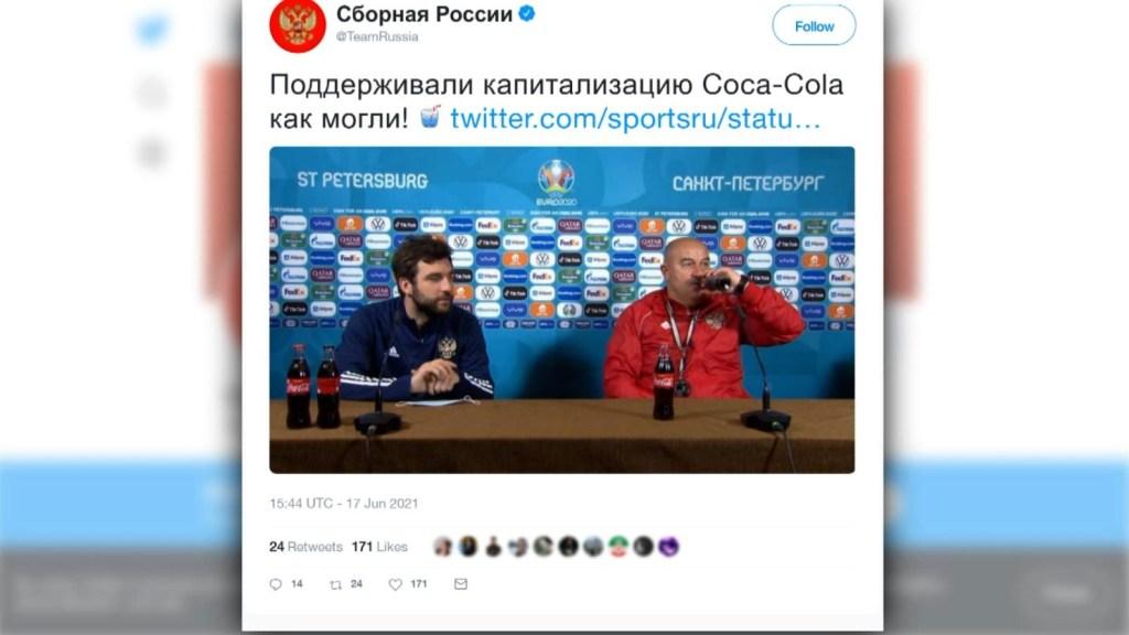 Técnico de Rusia hace lo contrario a Cristiano Ronaldo