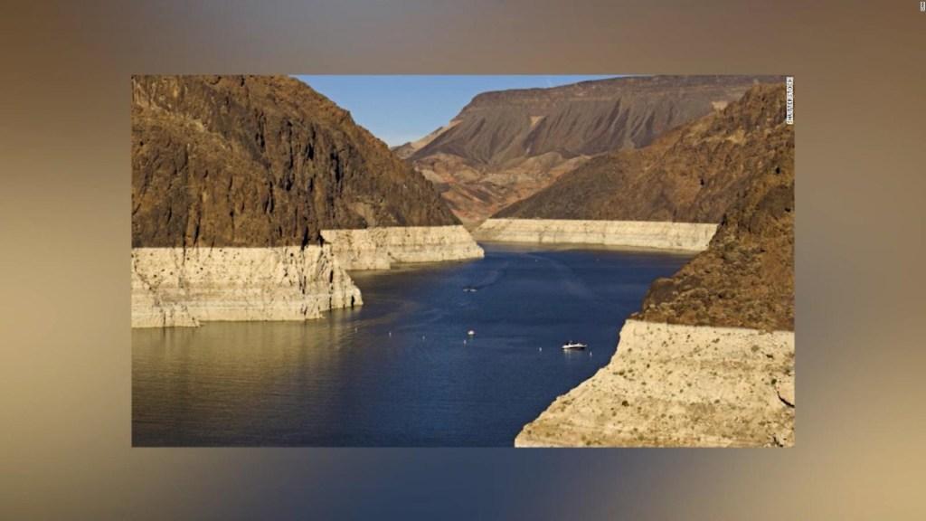 El antes y después del lago Mead tras sequía de 21 años