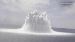 Explosión controlada por la Marina de EE.UU. causa sismo