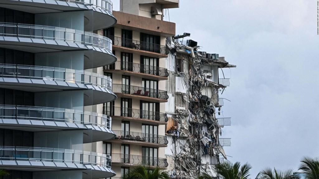 El edificio que colapsó cerca de Miami, antes y después