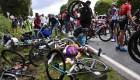 Mujer interrogada por accidente en el Tour de Francia
