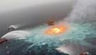 Imágenes impactantes de incendio en ducto de Pemex