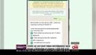 Los CDC lanzan chat de WhatsApp en español sobre covid