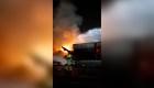Una explosión causa incendio en puerto de Dubai