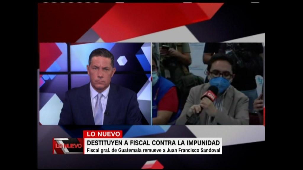 Consuelo Porras destituye a Juan Sandoval en Guatemala