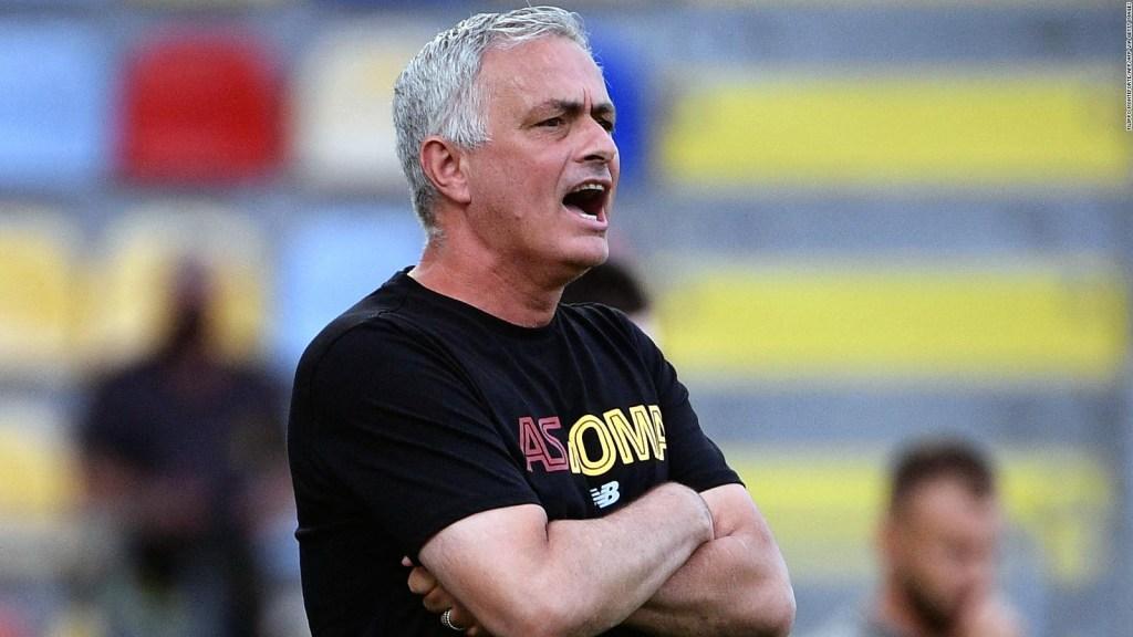 La celebración de José Mourinho de una medalla olímpica