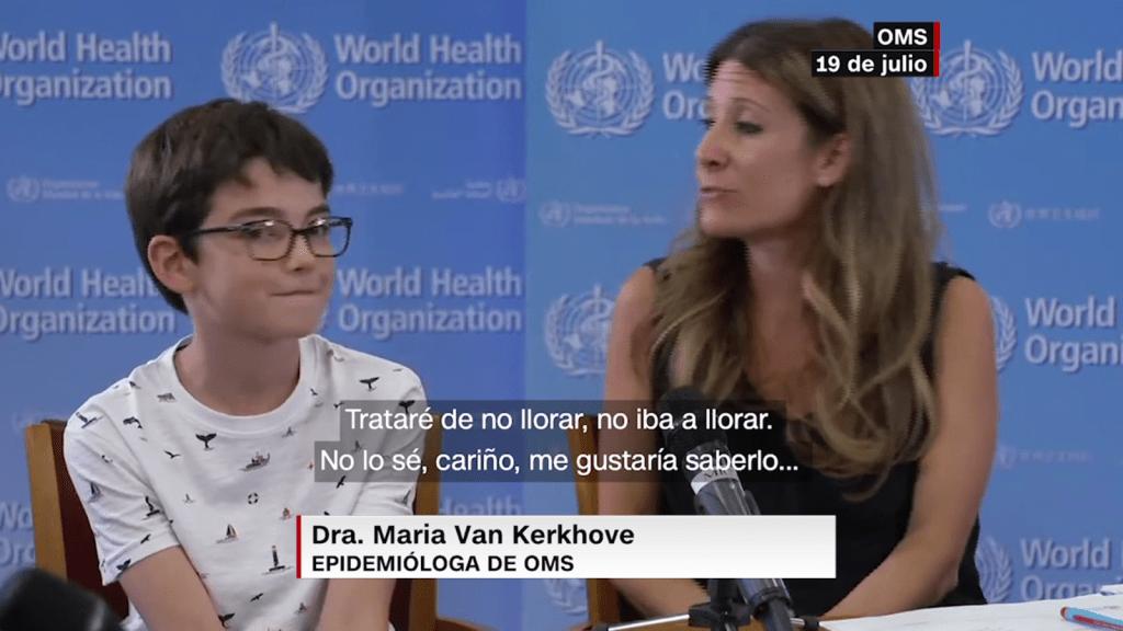 El niño que emocionó a los líderes de la OMS
