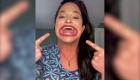 Mujer con la boca más grande del mundo, según Guinness