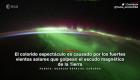 La aurora austral desde el espacio y en cámara rápida