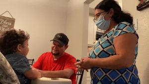Esta familia se arrepiente de no haberse vacunado