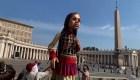"""Pequeña Amal"", marioneta inspirada en una niña refugiada"