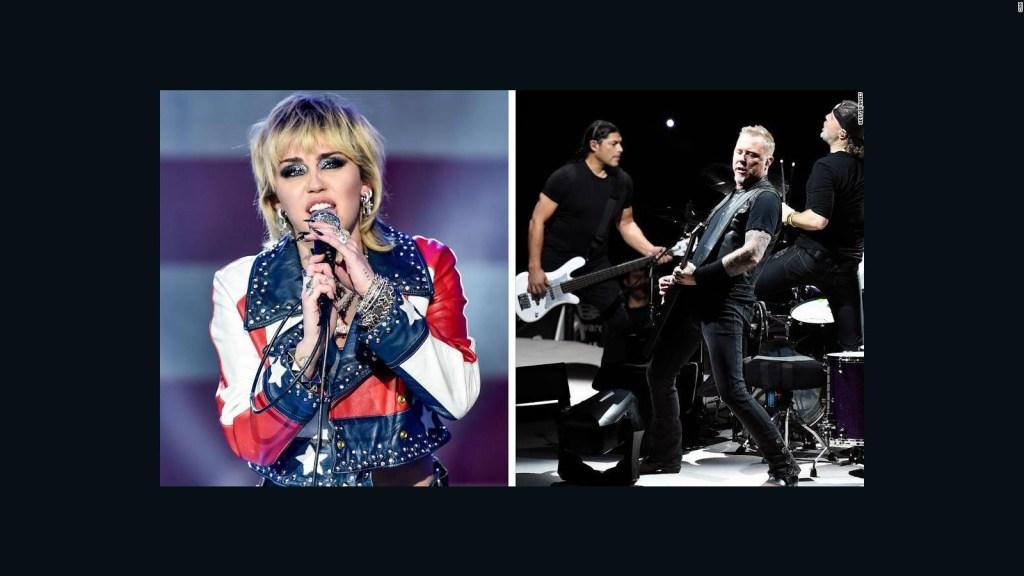 Miley Cyrus y Metallica hacen versión increíble de un éxito