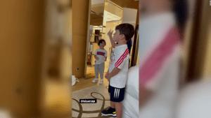 Así disfruta Messi ver a sus hijos bailar