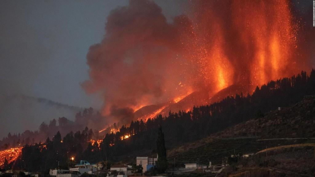 Sánchez se compromete con afectados por erupción del volcán