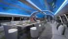 ¿Un mundo submarino en una cabina de avión?