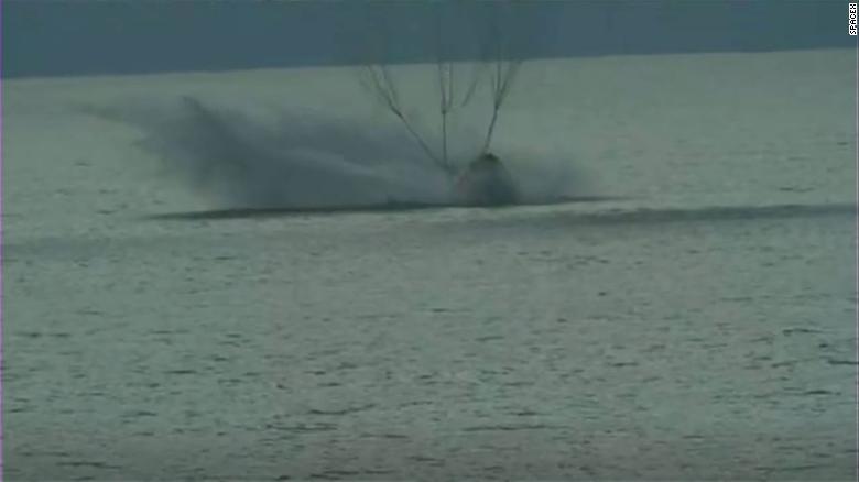 Así ameriza misión de SpaceX en las costas de Florida