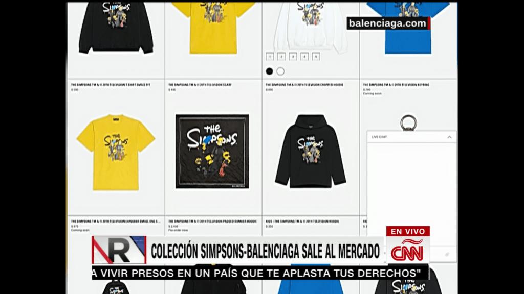 Lo que cuesta una prenda de Balenciaga con la imagen de los Simpsons