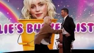 Mira a Billie Eilish golpear a Jimmy Kimmel