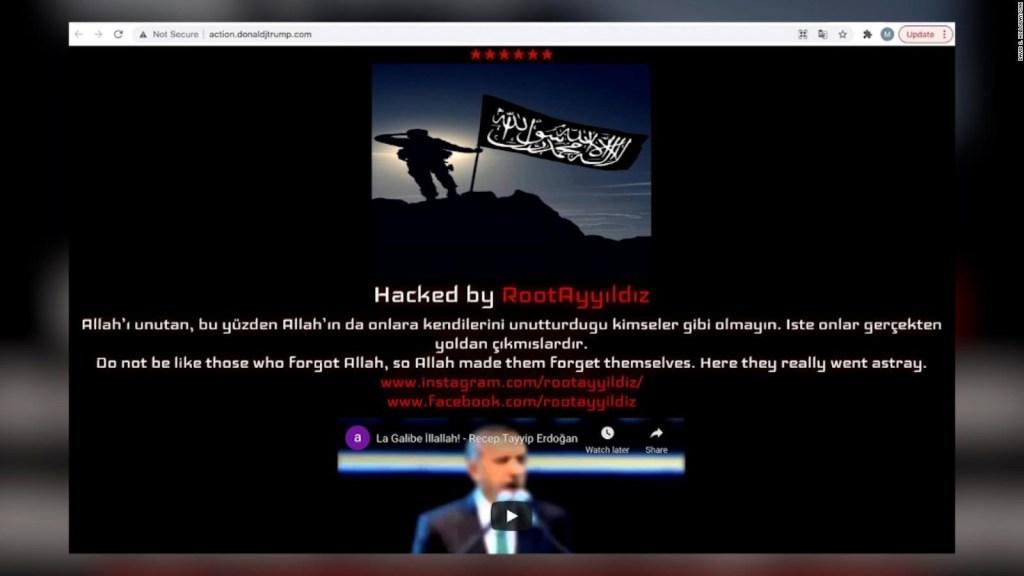 Hackean sitio en línea de Trump