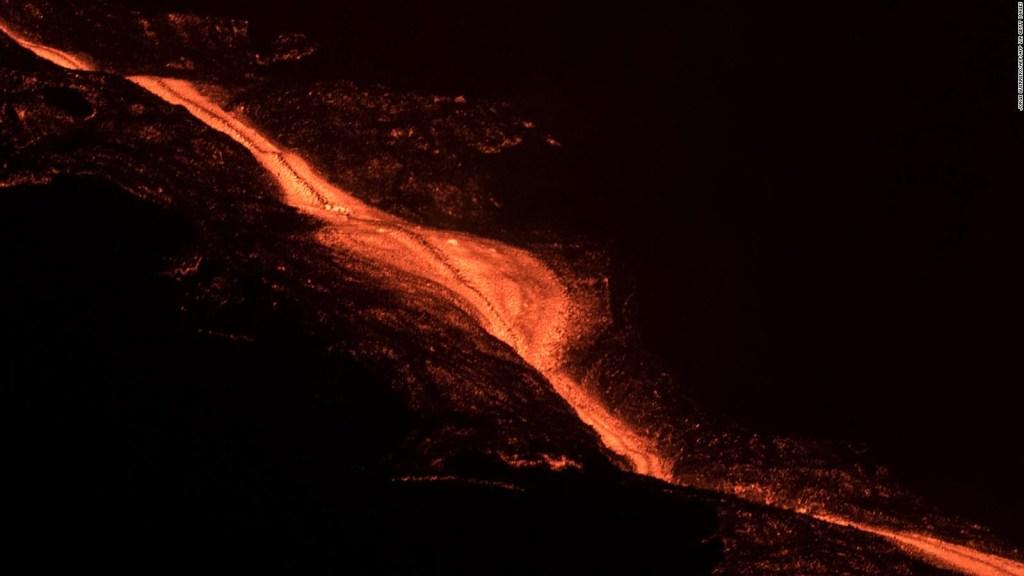 Mira este imponente río de lava en La Palma