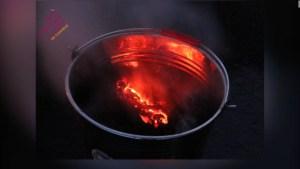 Enfrían la lava del volcán en La Palma para estudios