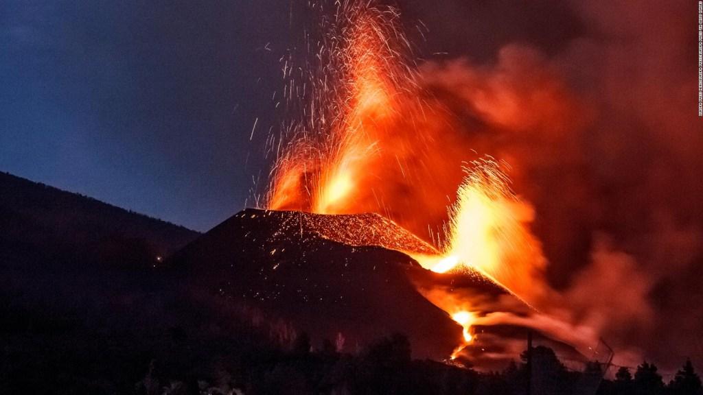Espectaculares imágenes de última erupción en La Palma