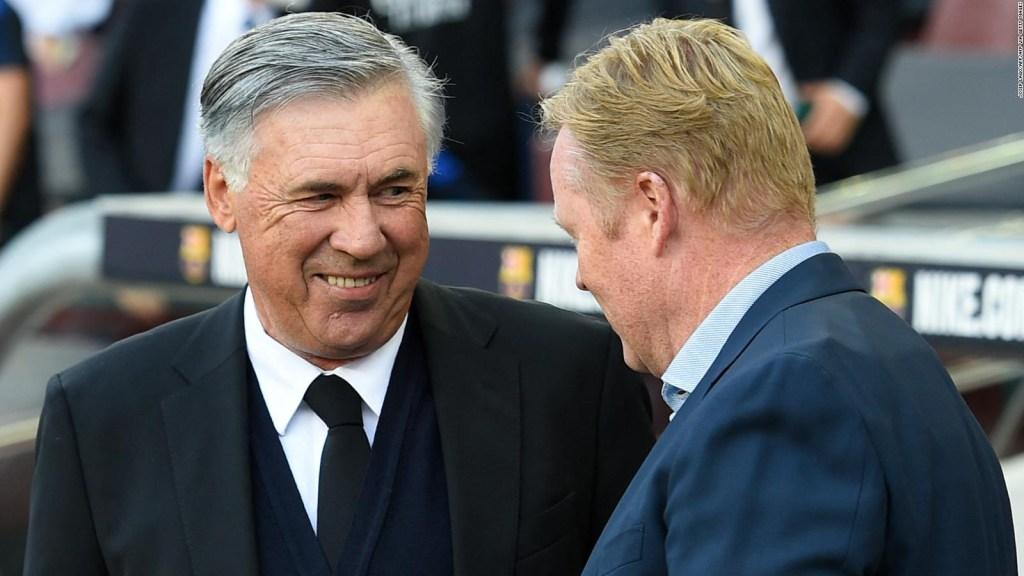 El Clásico: la felicidad de Ancelotti y la desazón de Koeman