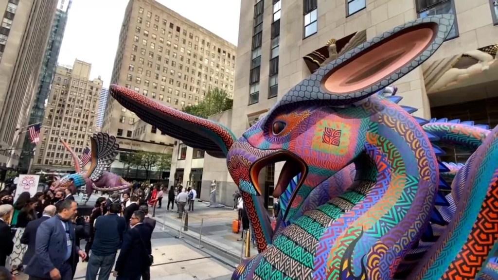Alebrijes mexicanos gigantes llegan a Nueva York