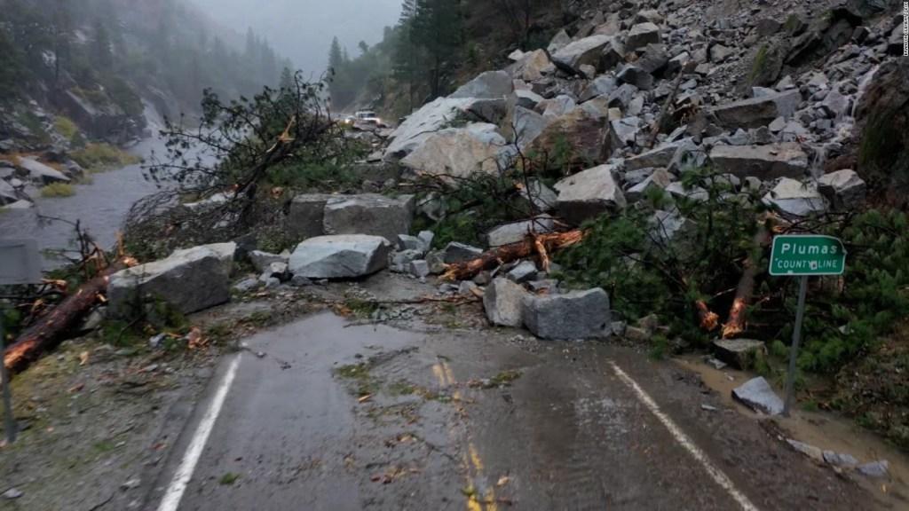 Deslizamientos por fuertes lluvias en California
