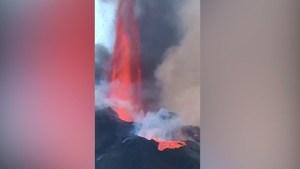 Así se escucha el estruendo del volcán en La Palma