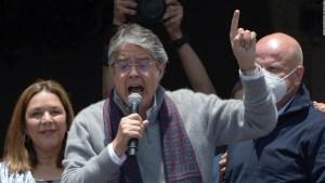 La reacción del gobierno tras las protestas en Ecuador