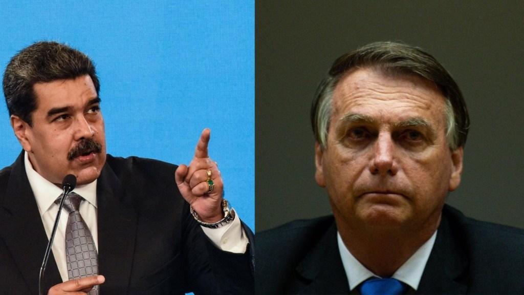 """""""Imbécil"""" y """"payaso"""", así llamó Maduro a Bolsonaro"""